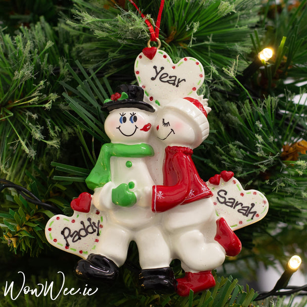 Personalised Christmas Ornament - Snow Sweethearts