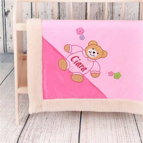 Personalised Baby Blanket for Girls - Snuggly and Soft