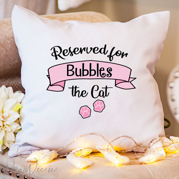 Personalised Cat Cushion - Cat Paws