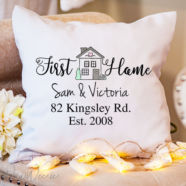 Personalised Cushion - First Home