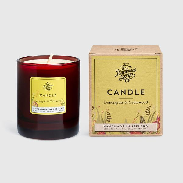Lemongrass & Cedarwood | Luxury Soy Candle - Uplifting and Calming - IRISH