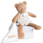 Personalised Bear Comforter - 26 cm Deluxe Gift Box - NEW