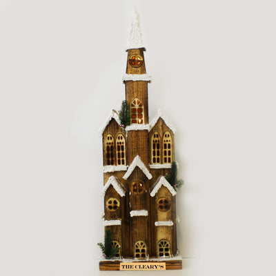 Christmas Village - Illuminated Snowy Bell Tower - 85cm