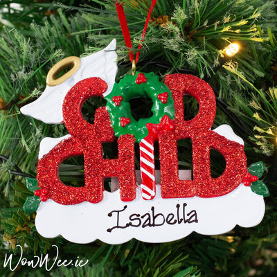 Personalised Christmas Ornament - God Child