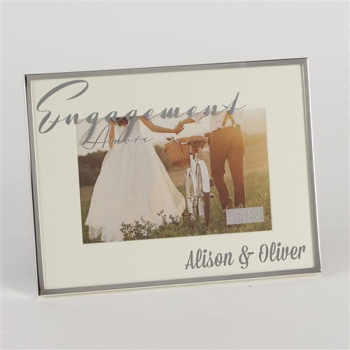 Personalised Engagement Frame - Silverplated Photo Frame - WowWee.ie Personalised Gifts