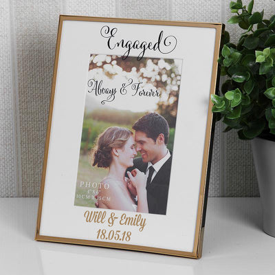 Personalised Engagement Frame - Gold Details