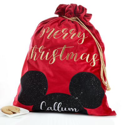 Personalised Mickey Mouse Santa Sack