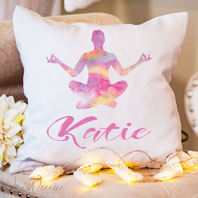 Personalised Yoga Cushion - Namaste