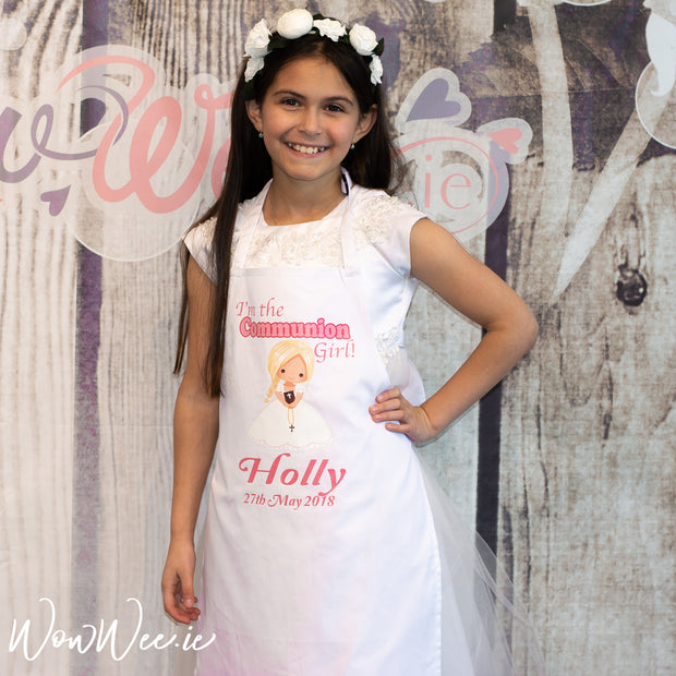 Personalised First Holy Communion Apron for Girls