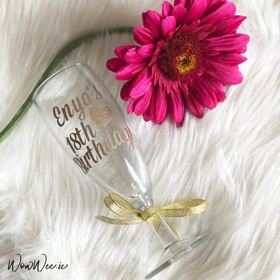 Personalised Birthday Champagne Glass
