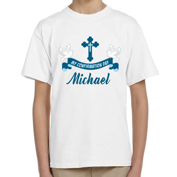 Personalised Confirmation T-Shirt for Boys