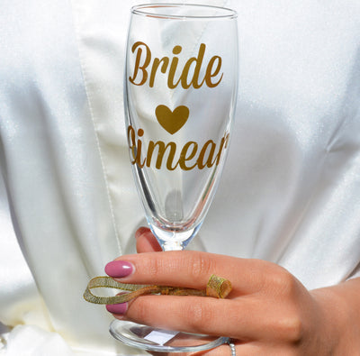 Personalised Bridal Champagne Glass - For Bride & Bridal Party