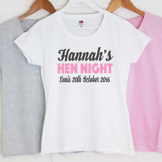 Personalised Hen Night T-Shirts - Hen Night