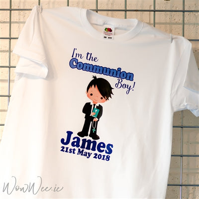 Personalised Communion Day T-Shirt for Boys | Personalised Communion Gifts | Personalised First Holy Communion Gifts | Communion Gifts for Boys | WowWee.ie