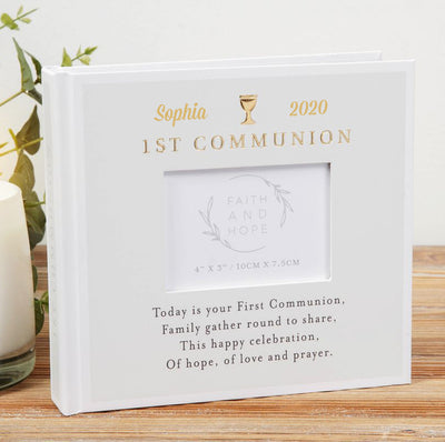 Personalised Communion Photo Album | Personalised Communion Gifts Ireland | First Holy Communion Gifts | Personalised Holy Communion Keepsakes | WowWee.ie