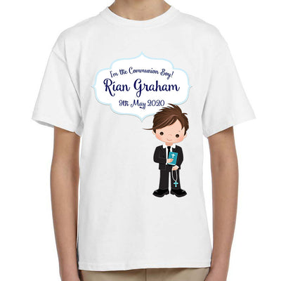 Personalised First Holy Communion T-Shirt for Boys -Style 2