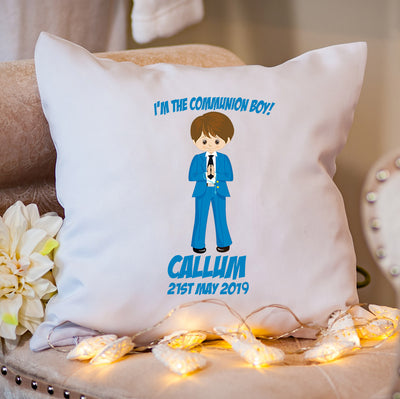Personalised Holy Communion Cushion | Personalised First Holy Communion Gifts | Communion Gifts for Boys | Personalised Communion Gifts | Holy Communion Gifts | First Holy Communion Gifts | WowWee.ie