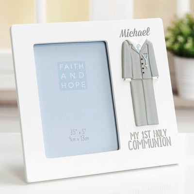 Personalised First Holy Communion Frame | Personalised Communion Gifts Ireland | Personalised Communion Keepsakes | First Communion Picture Frame | Communion Gifts for Girls | Personalised Photo Frames for Boys | WowWee.ie
