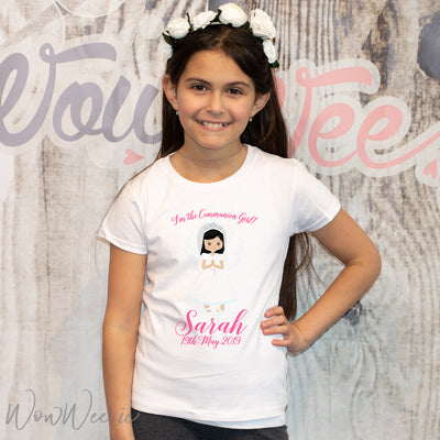Personalised First Holy Communion Gift - T-Shirt for Girls - Trendy
