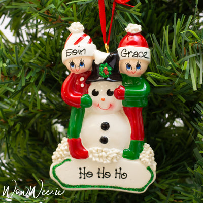 Personalised Christmas Ornament - Making a Snowman 2