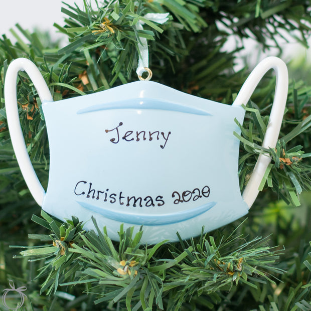 Personalised Christmas Decorations - Wear a Mask