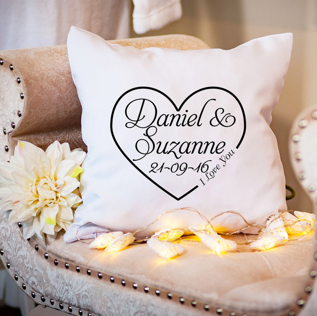 Personalised Cushion for Couple - Love Heart