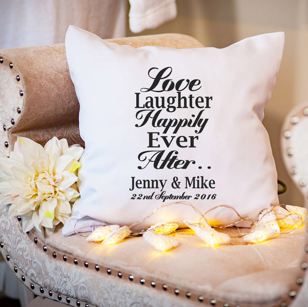 Personalised Cushion for Couple - Happily Ever After