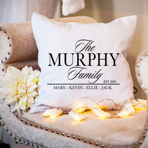 Personalised Cushion - Your Family Name