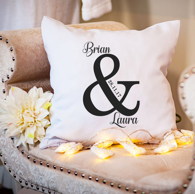 Personalised Cushion for Couple - Ampersand