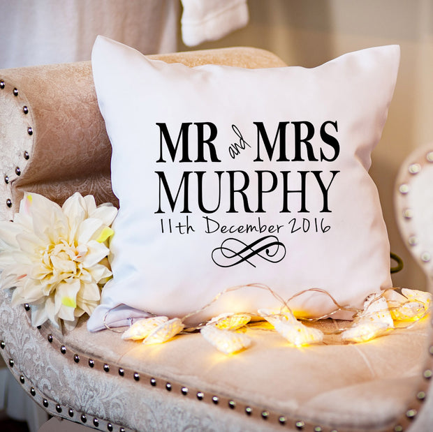 Personalised Cushion - Mr & Mrs