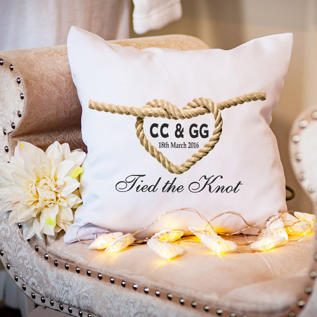 Personalised Cushion for Couple - Tied the Knot