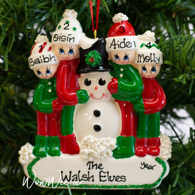 Personalised Snowman Christmas Ornament - Making a Snowman 4