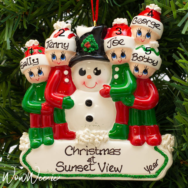 Personalised Christmas Decorations - Making a Snowman Family 5 - WowWee.ie Personalised Gifts