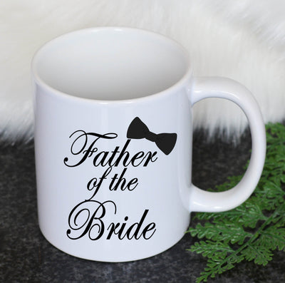 Personalised Father of the Bride Mug -Bow