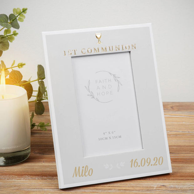 Personalised First Holy Communion Photo Frame - Faith and Hope