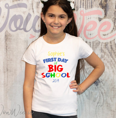 Personalised T-Shirt - First Day of School