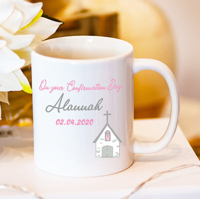 Personalised Confirmation Day Mug | Personalised Confirmation Gifts Ireland | Personalised Confirmation Keepsakes | WowWee.ie