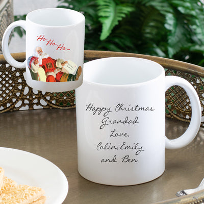 Personalised Christmas Mug - Ho Ho Ho