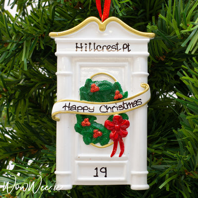 Personalised Christmas Ornament - White Door