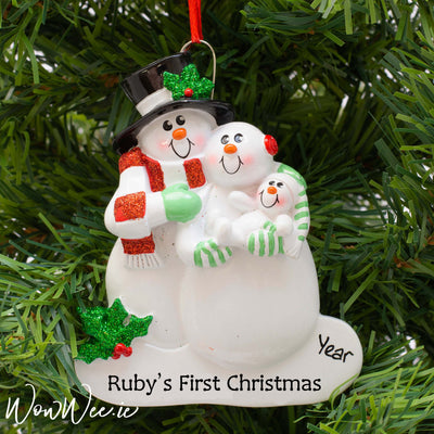 Personalised Christmas Ornament - First Family Christmas