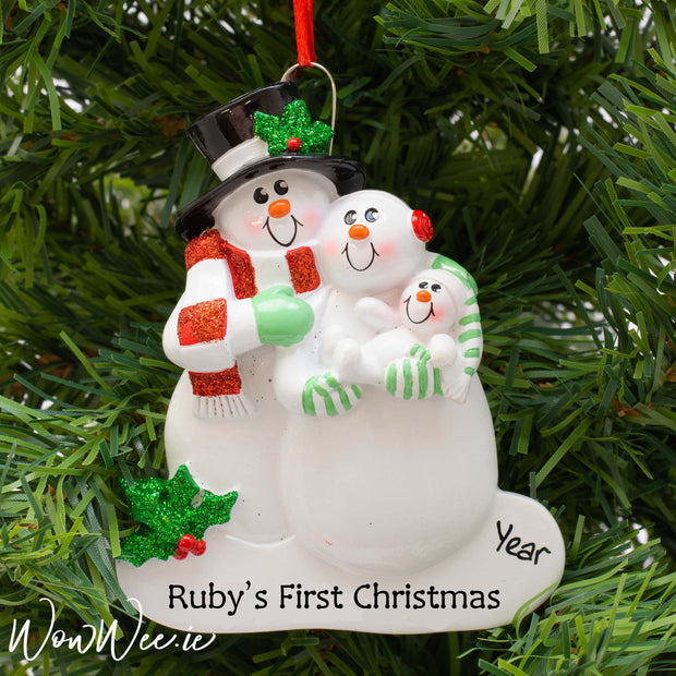 Personalised Christmas Ornament - First Family Christmas - WowWee.ie Personalised Gifts