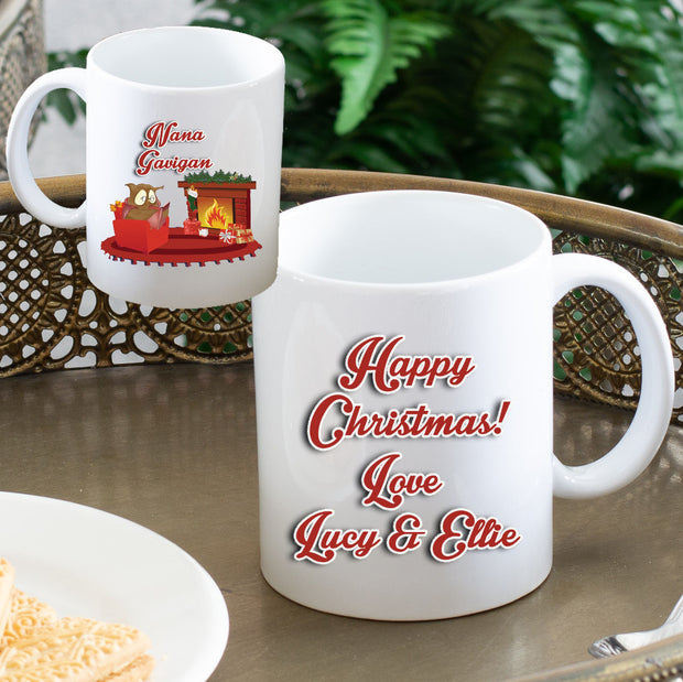 Personalised Christmas Mug - Owl