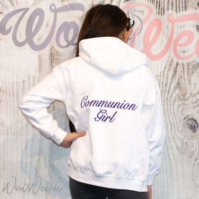 Personalised Communion Girl Hoodie | Personalised Hoodie for First Holy Communion | Personalised Communion Gifts | WowWee.ie
