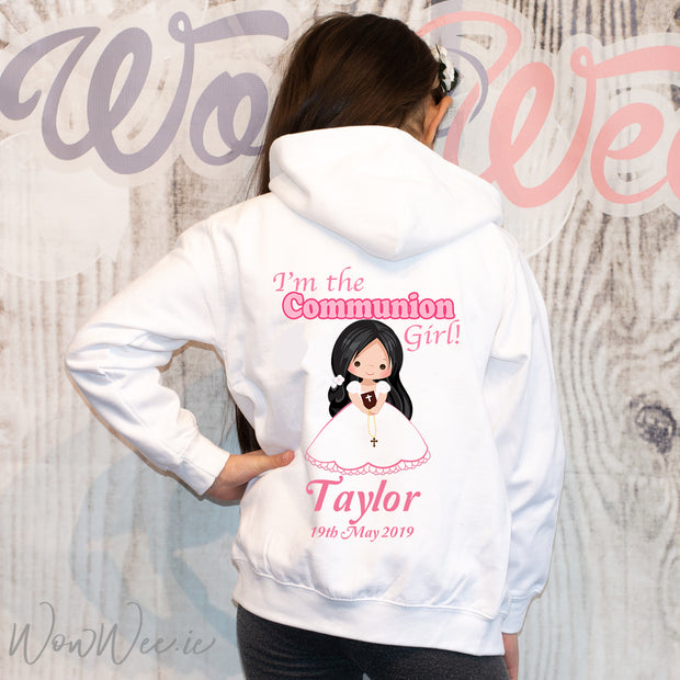 Personalised Holy Communion Hoodie | Communion Gifts for Girls | Personalised Communion Gifts Ireland | Personalised First Holy Communion Gifts | WowWee.ie