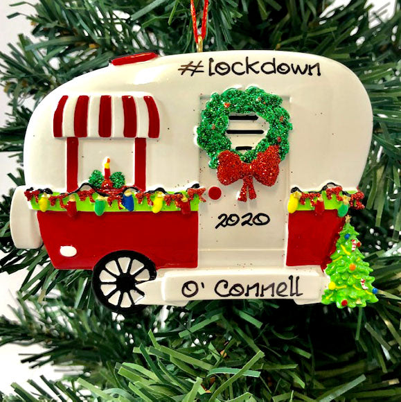 Personalised Christmas Ornaments - Christmas Camper