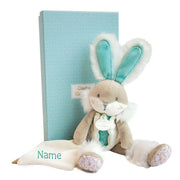 Personalised Comforter - Almond Sugar Bunny- 26cm Deluxe Gift Box - NEW