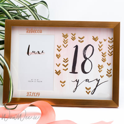 Personalised 18th Birthday Photo Frame - Rose Gold