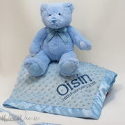 Personalised Gift Set for Baby Boy - Bedtime Snuggles with Teddy