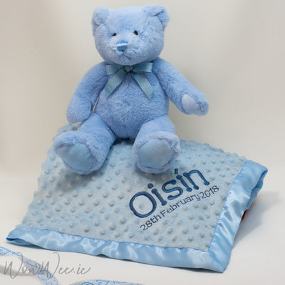 Personalised Gift Set for Baby Boy - Bedtime Snuggles