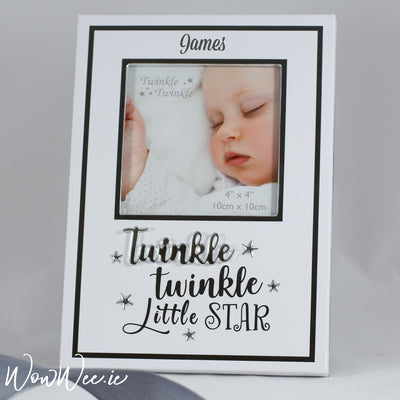 Personalised Baby Photo Frame - Twinkle Twinkle Little Star